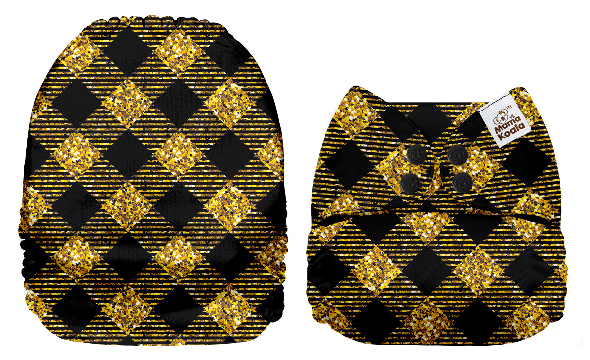 Black and Gold Patches