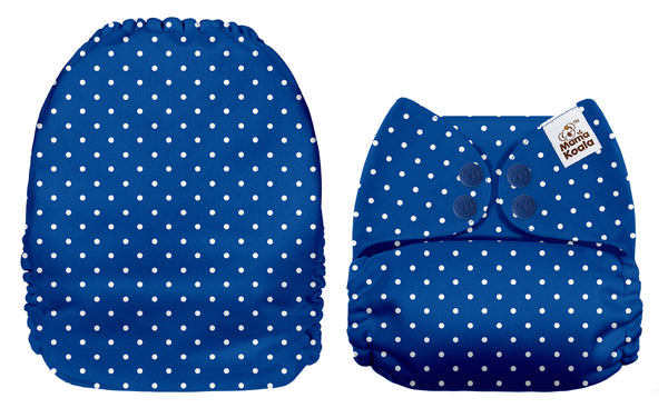 Blue With White Polka Dots