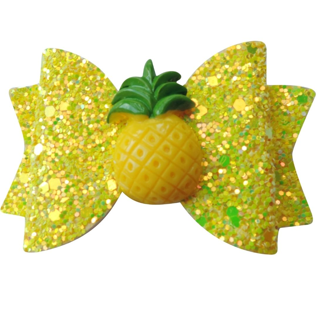"3"" Pineapple Glitter Bow"
