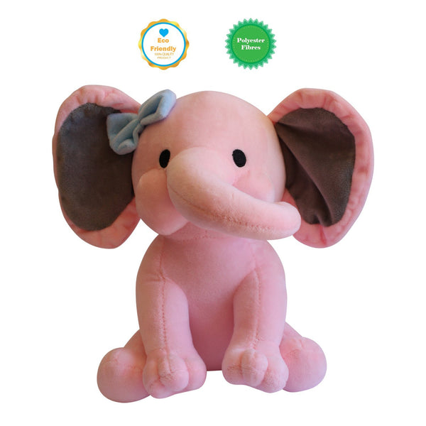 Plush Pink Elephant Safari Totz