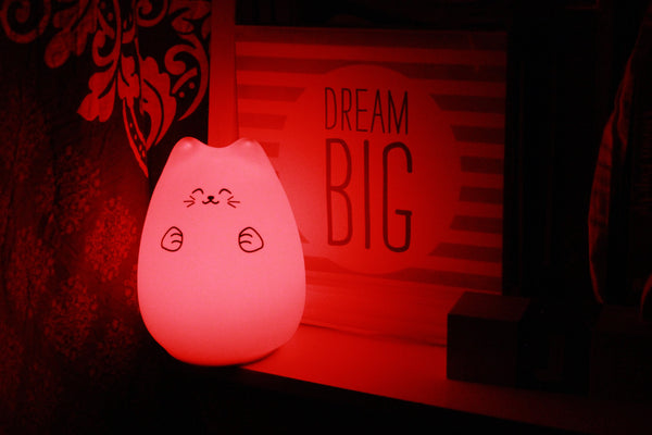 USB SILICONE KITTY LED NIGHT LAMP Safari Totz