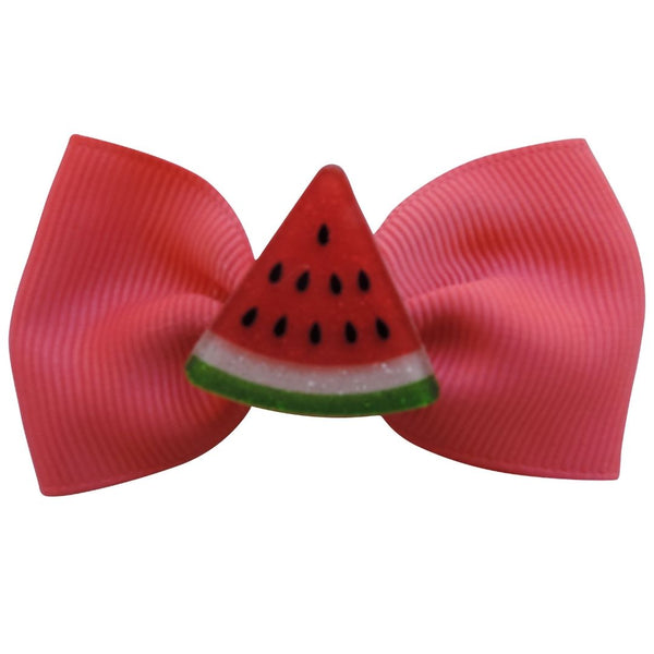 "2.75"" 5PC Fruity Delicious Glitter Bows Set"