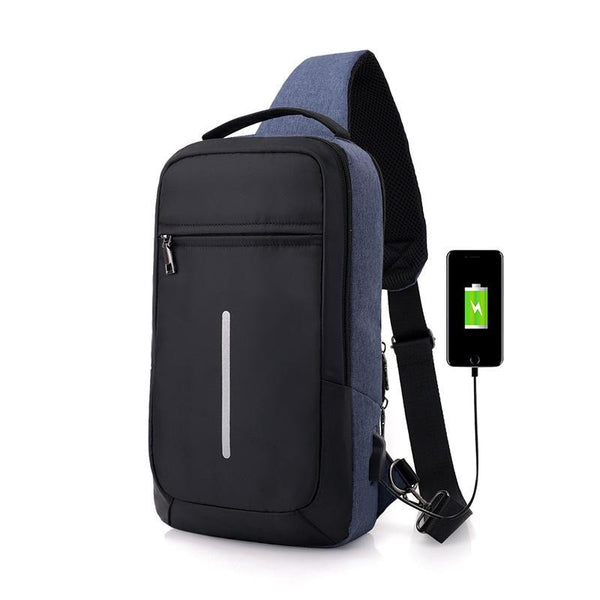 Anti-theft USB charging chest bag™