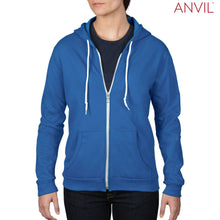 Load image into Gallery viewer, Anvil Adult Full-Zip Hooded Fleece - Ladies
