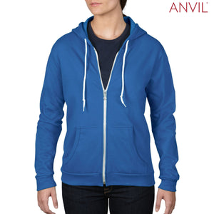 Anvil Adult Full-Zip Hooded Fleece - Ladies