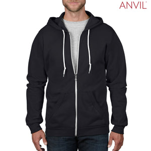 Anvil Adult Full-Zip Hooded Fleece - Men's