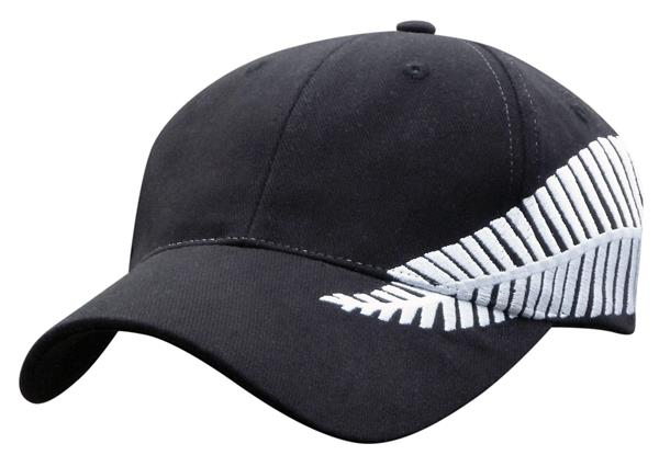 Embroidered Silver Fern Cap