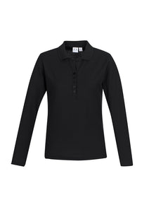 Crew Long Sleeve Polo - Ladies