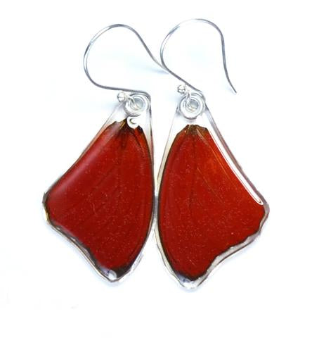 Red Glider Butterfly Earrings