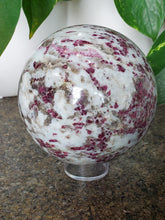Load image into Gallery viewer, Red Tourmaline Sphere 3.5""