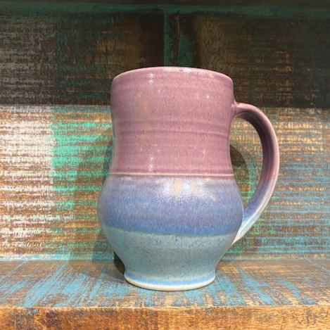 Handmade Purple Clay Mug