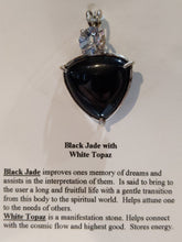 Load image into Gallery viewer, Black Jade & White Topaz Pendant