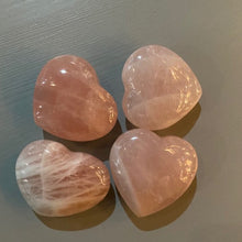 Load image into Gallery viewer, Rose Quartz Heart- Palm Size