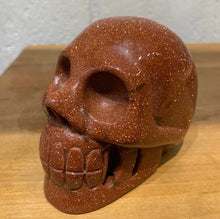 Load image into Gallery viewer, Goldstone Skull