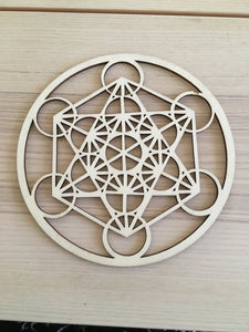 Metatron Laser Cut Crystal Grid
