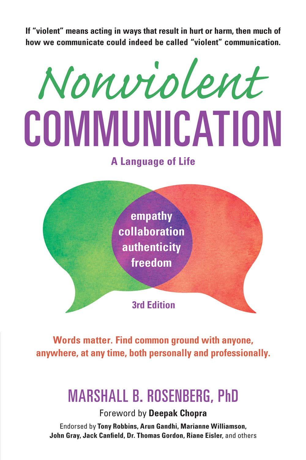 Nonviolent Communication: A Language of Life: Life-Changing Tools for Healthy Relationships by Marshall B. Rosenberg