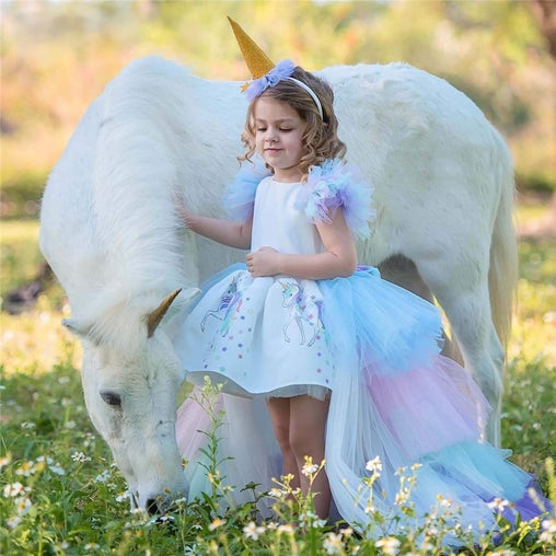 Princess Unicorn Dress for Girls - Oh Happy Mommy