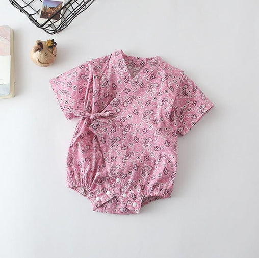 Floral Japanese Kimono Rompers - Oh Happy Mommy