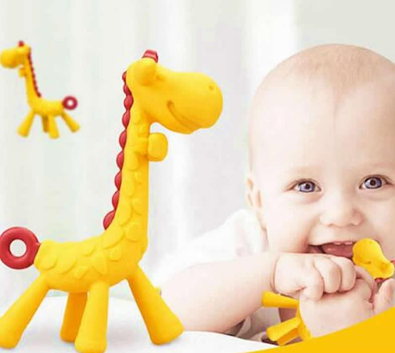 Baby Teeth Fawn Molar Giraffe Teether - Oh Happy Mommy
