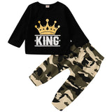 Cotton King Shirt with Camouflage Pant