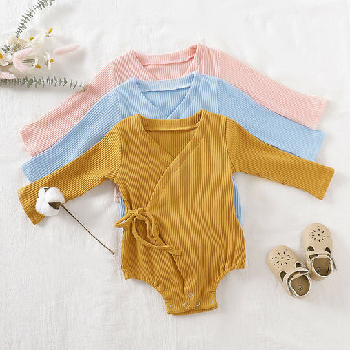 Baby Ribbed Kimono Jumpsuits - Oh Happy Mommy