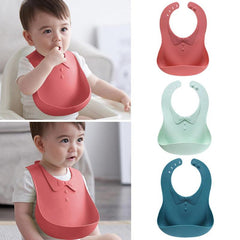 Baby Feeding Silicone Bib - Oh Happy Mommy