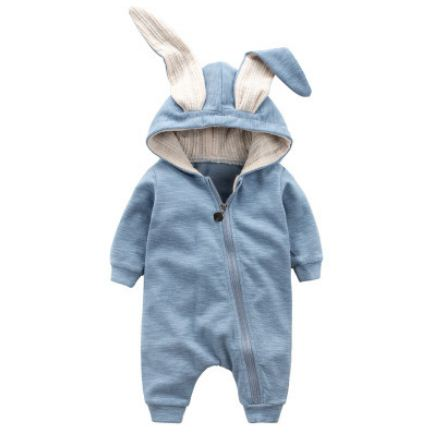Cute Rabbit Ear Hooded Baby Jumpsuit - Oh Happy Mommy