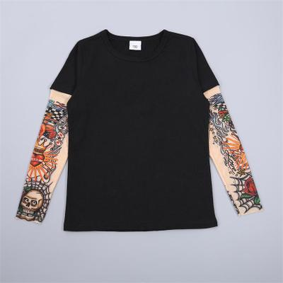 Fake Tattoo Long Sleeve Printed T-shirts - Oh Happy Mommy