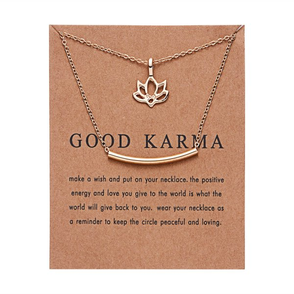 Gold Fashion Necklace - Positive Energy - Oh Happy Mommy