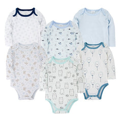 Trendy Newborn Baby Bodysuit Set (6 PC) - Oh Happy Mommy