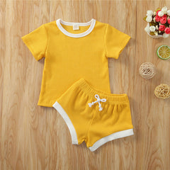 Toddler Summer Ribbed Knitted Short Sets - Oh Happy Mommy