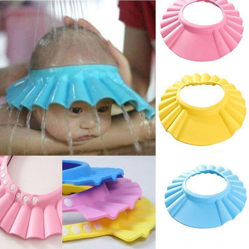 Adjustable Soft Baby Shampoo Bath Shower Cap - Oh Happy Mommy