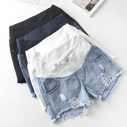 Low Waisted Maternity Shorts - Oh Happy Mommy