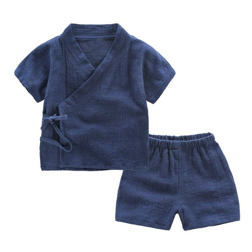 Linen T Shirt And Shorts Sets - Oh Happy Mommy