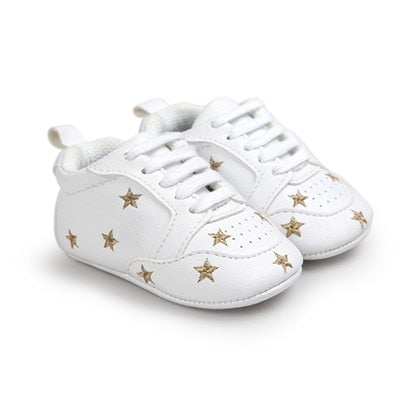 Sneakers White (Stripe / Star) Shoes - Oh Happy Mommy