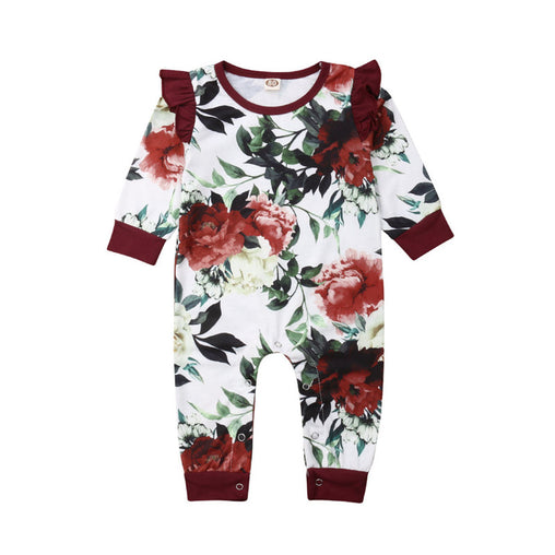 Flower Romper Ruffle Jumpsuit - Oh Happy Mommy