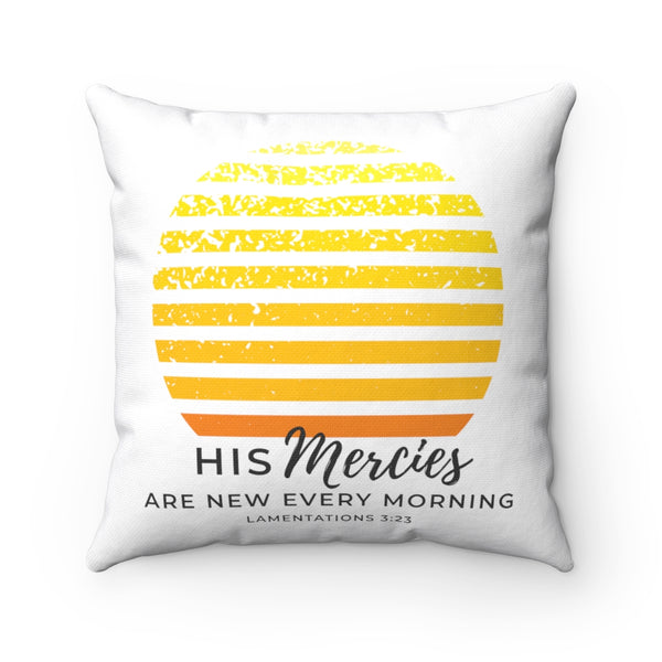 New Mercies Spun Polyester Square Pillow
