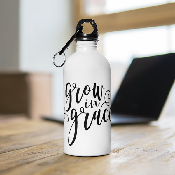Grow in Grace Stainless Steel Water Bottle