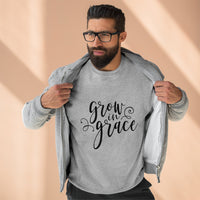 Grow in Grace Unisex Premium Crewneck Sweatshirt