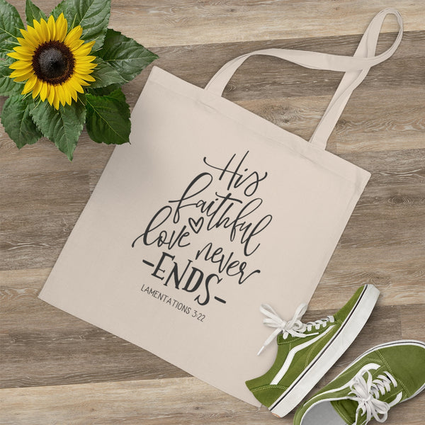 His Faithful Love Tote Bag