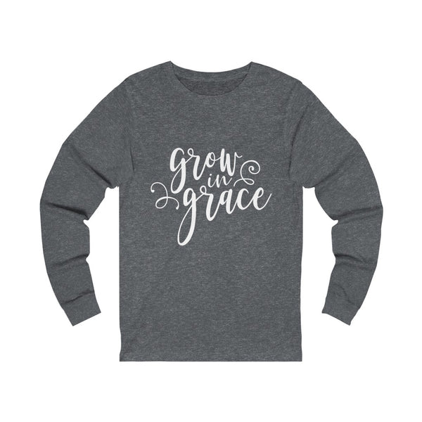 Grow in Grace Unisex Jersey Long Sleeve Tee
