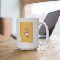 I Heart Coffee {yellow} Mug 15oz