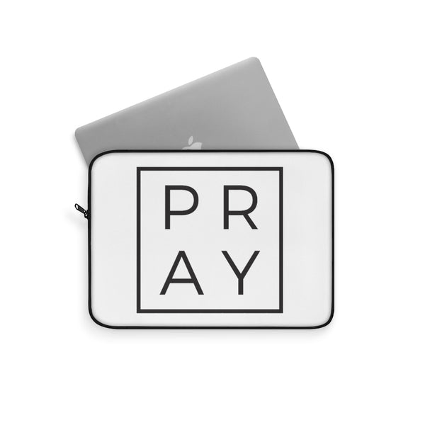 Copy of Pray {Black and White} Laptop Sleeve