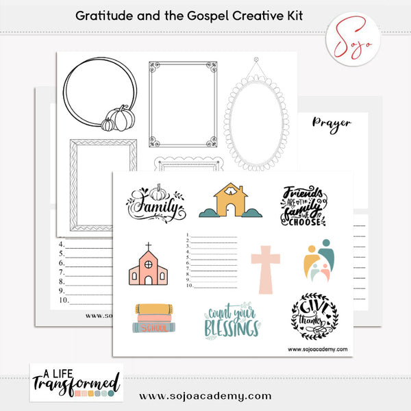 A Life Transformed through Gratitude Creative Elements and Papers