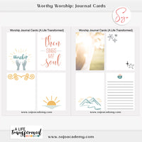 Worthy Worship Journal Cards: Set of 8 Cards
