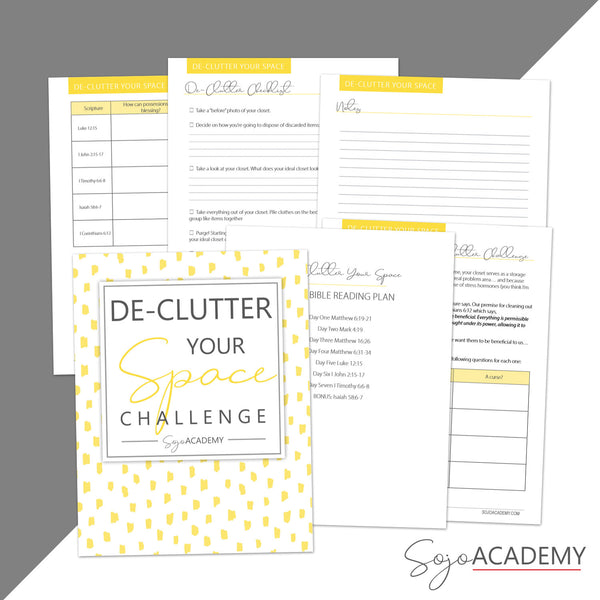 {Simplify} Declutter Your Space: 10 Day Challenge