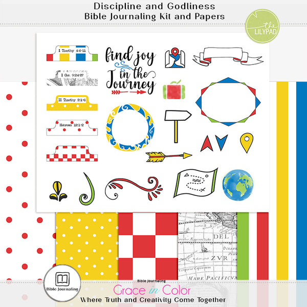 Disciplined for the Gain of Godliness Bible Journaling Kit: 6 pages