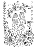 Friendship Coloring Page