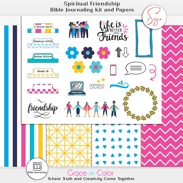 Friendship Bible Journaling Kit: 5 pages