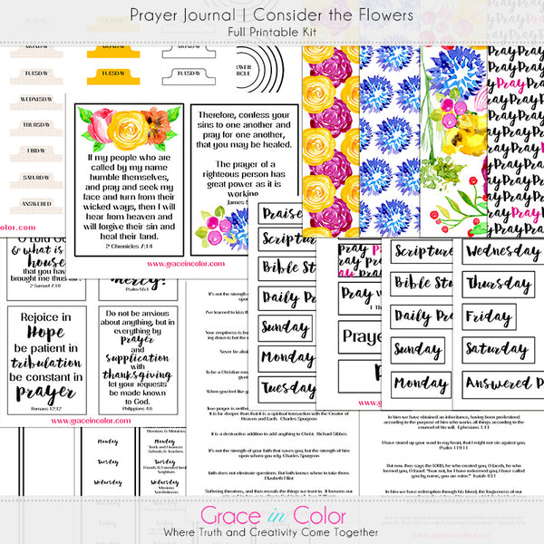 {Create it Yourself} Prayer Journal Kit | Consider the Flowers
